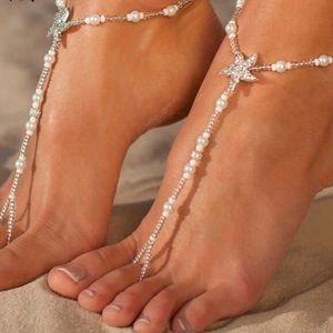 Jewelry - Boho 2 PC Starfish Foot Jewelry Anklet